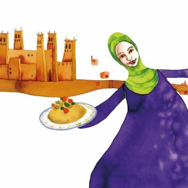 in Marocco dalla zia di Selma